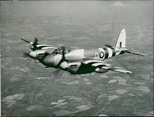 Engine Mosquito Twin (Vintage photo of de Havilland Mosquito Combat aircraft:First Publication.)