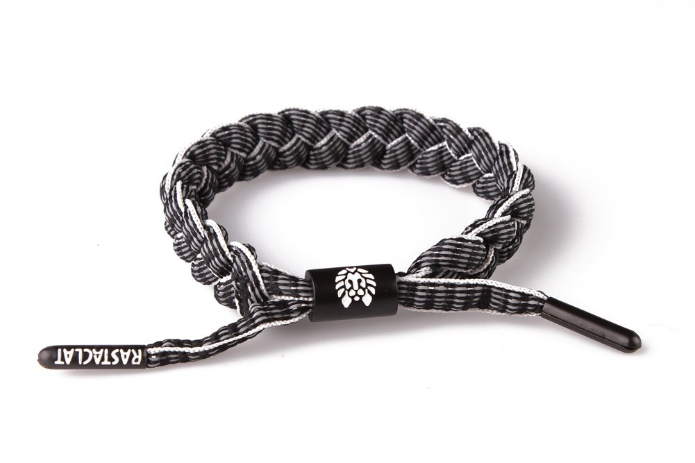 RASTACLAT 3M Series Highway Black Shoelace Bracelet