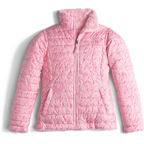 The North Face Girls Girls' Reversible Swirl Jacket, L (14-16), Pink