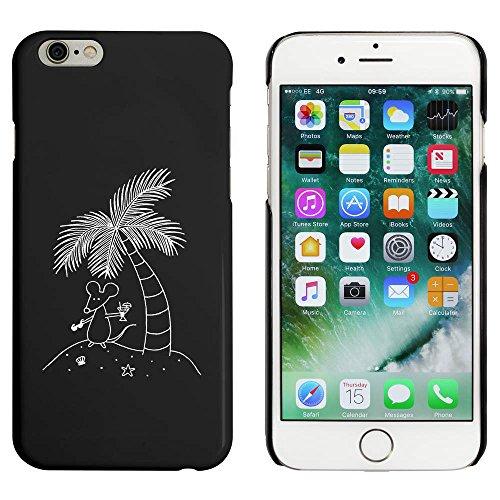 Noir 'Souris sur une Île' étui / housse pour iPhone 6 & 6s (MC00005105)
