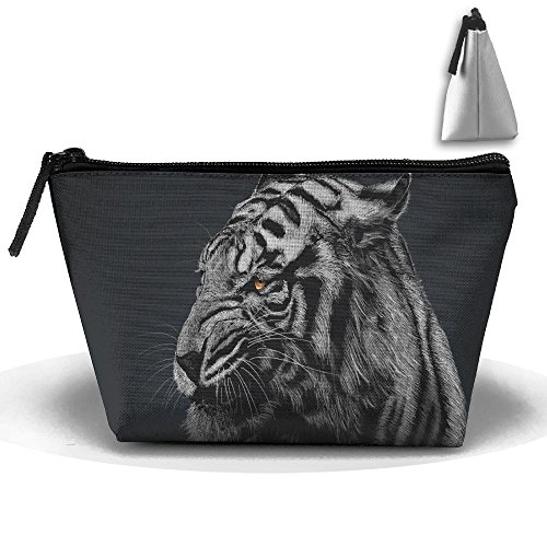 Fengyaojianzhu Tiger Portable Make-up Receive Bag Storage Capacity Bags For Travel With Hanging Zipper