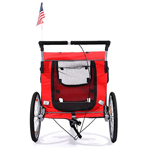 Cycling Bicycle Trailer Pet Dog Bike Trailer Stroller Jogging w/ Suspension (Womens Arctic Ca)