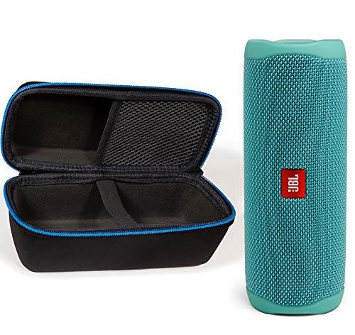 JBL Flip 5 Waterproof Portable Wireless Bluetooth Speaker Bundle with divvi! Protective Hardshell Case – Teal