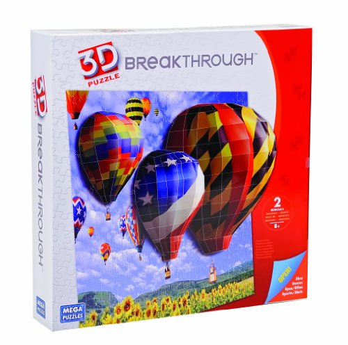 Mega Puzzles Hot Air Balloons 3D Breakthrough Puzzle