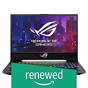 (Renewed) ASUS ROG Strix Scar II GL504GW-ES007T 15.6-inch Gaming Laptop (8th Gen Intel Core i7-8750H/16GB/1TB SSHD+ 512GB SSD/Windows 10/RTX 2070 8GB Graphics/2.40 Kg), Gun Metal
