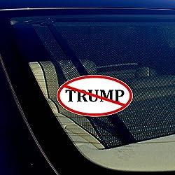 """Anti Trump No Trump Auto Window Bumper Vinyl Decal Sticker 4"""" Inches"""