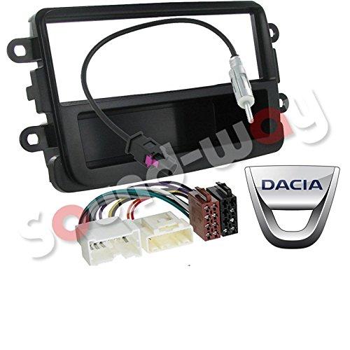 Kit de Montaje Marco Adaptador autoradio 1 DIN Dacia Duster sandero Negro