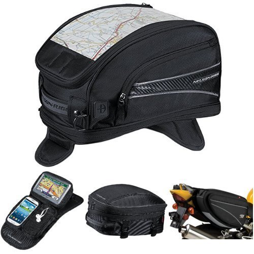 Nelson-Rigg CL-2015-MG Black Magnetic Mount Journey Sport Tank Bag,  CL-GPS-MG Black Magnetic Mount Journey GPS Mate,  CL-1060-S Black Sport Tail/Seat Pack,  and  CL-950 Black Deluxe Sport Touring Saddle Bag Bundle