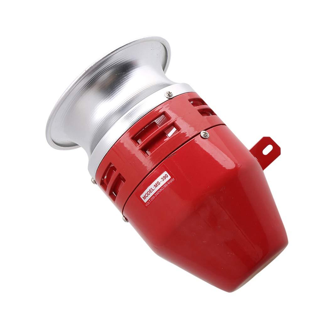 Mxfans DC12V MS-390 125dB Metal Mini Motor Siren Sound Alarm Industrial Tool