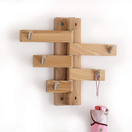 LCF Gancho de Pared Creativo Perchero de Madera Maciza ...