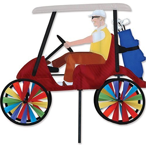 17 In. Golf Cart Spinner - Red by Premier Kites ()