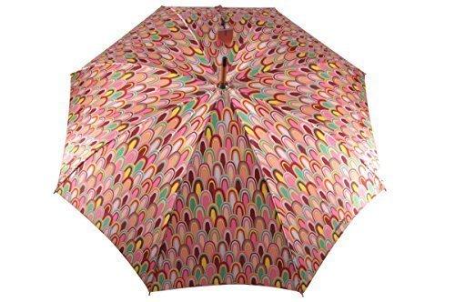 MISSONI Diseñador Paraguas Paraguas bastón Paraguas Ombrello Paraguas Parapluie - NARANJA Etiqueta