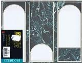 Z Grafix Desktop Publishing Papers Green Marble Tri-Fold 3-Panel Double-Sided Brochures - 100 Sheet 8-1/2 x 11 - 32 lb 2-Sided Pre-scored
