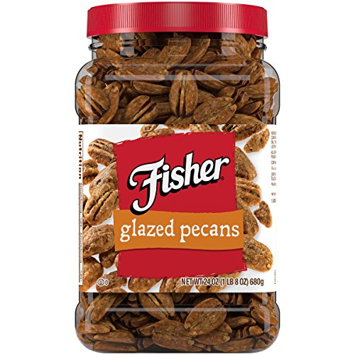 FISHER Snack Glazed Pecans, Jr. Mammoth Pecans, 24 oz