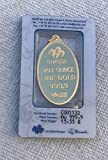 1/2 OZ Gold Bar, 15.55 Gram - Oval Gold with Pendant