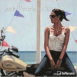 2018 Jack Vettriano Mini Grid Calendar - teNeues Art Calendar - 17.5 x 17.5 cm