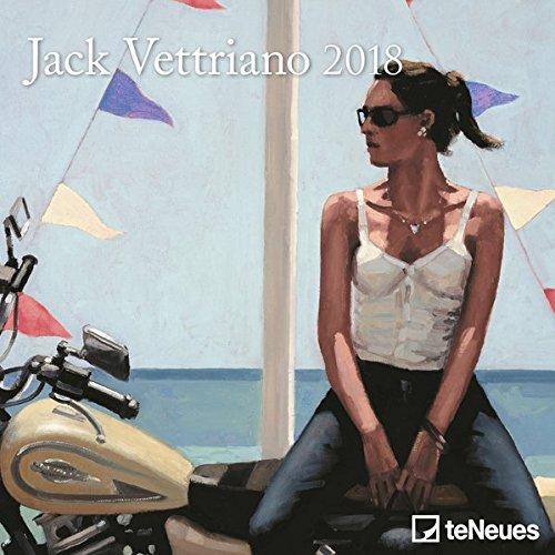 Jack Vettriano 2018 - Kunstkalender, Mini-Broschürenkalender - 17,5 x 17,5 cm