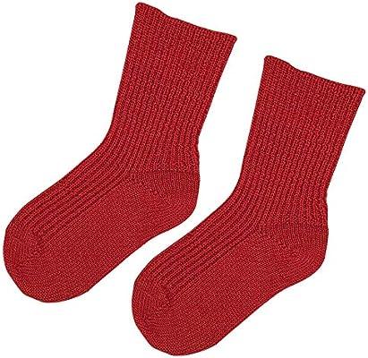 3-pack Pure Organic Virgin Wool Socks for Girls and Boys Size Baby 8 Years Kids Wool Socks