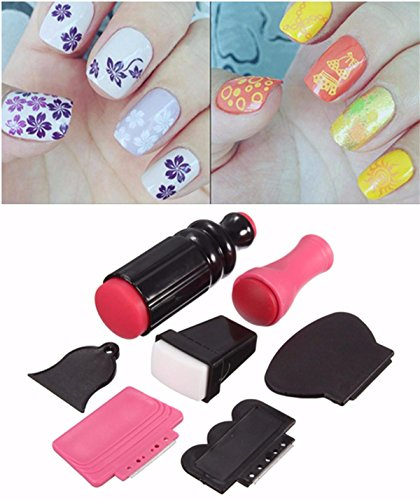 (7Pcs/set Nail Art Scraper Stamping Plate Double Ended Stamper Image Tool Kit)