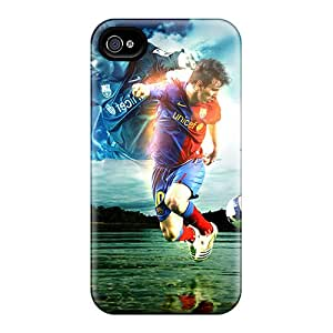 Excellent Cell-phone Hard Cover For Iphone 6plus (WKY6875echg) Unique Design HD The Player Of Barcelona Lionel Messi Dribbling Pictures