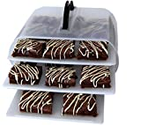 Cookie and Cake Carrier Container with Handle and