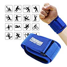 2 Pcs, The Elixir Adjustable Breathable Neoprene Wrist Support Wristbands, Classic Sports Gym Elastic Wrist Joint Support