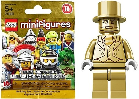 Lego Series 10 - MR GOLD Minifigure - Genuine 483 / 5000 - Factory ...