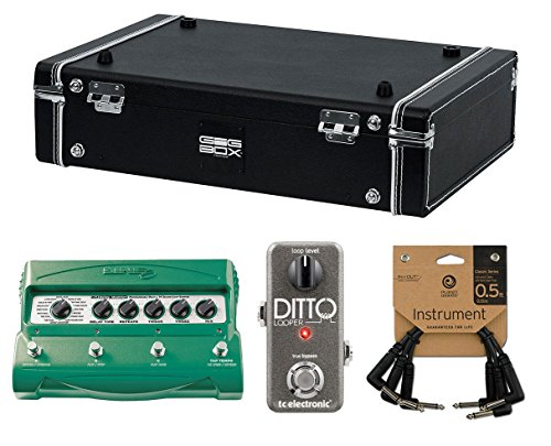 Gator Gig-Box Jr. PWR Pedal Board Bundle w/ Line 6 DL4 Stompbox Delay Modeler / TC Electronic Ditto Looper Pedal by Gator
