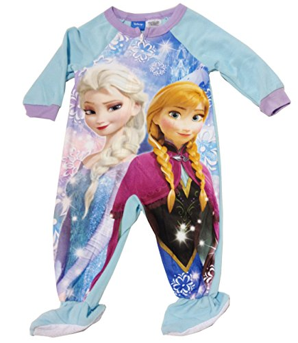 Frozen Elsa Anna Baby Toddler Fleece Sleeper Pajamas