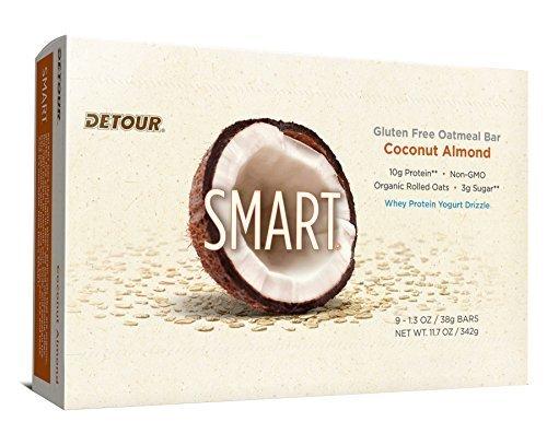 Detour Smart Bars, Coconut Almond, 38 Gram , 9 - 1.3 Ounce, 11.7 Ounce by Detour - Detour Oatmeal Whole Grain