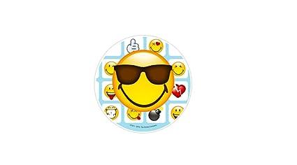 Disco Cialda Per Torta Ostia Emoticon Smile 40570 (occhiali Da Sole) su3sUD7
