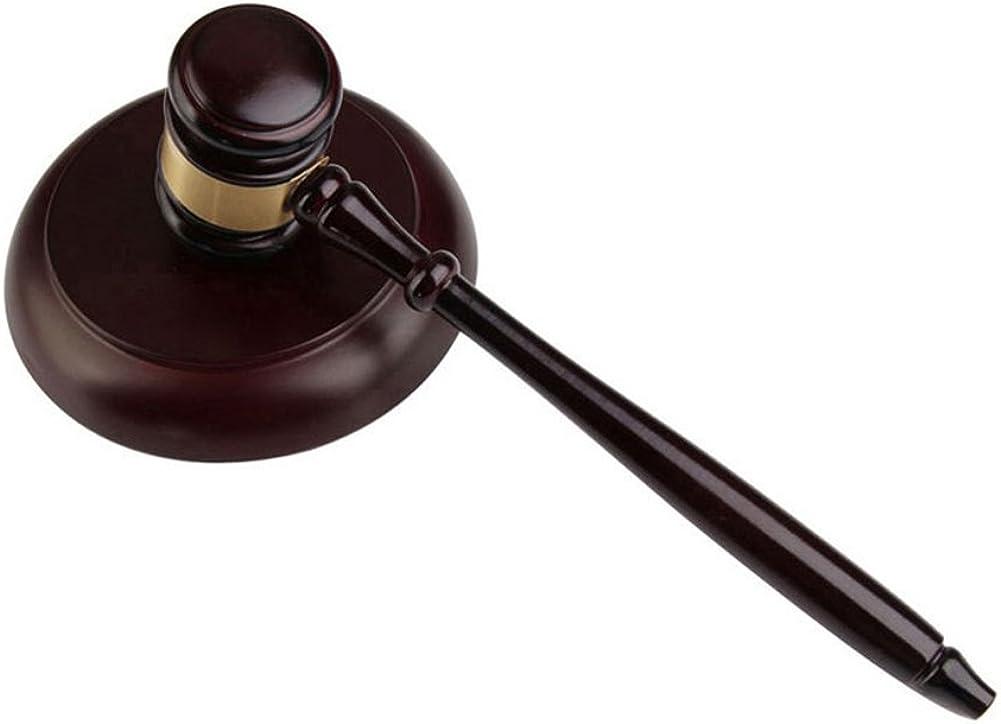 Marteau en bois ronds et bloc de pour avocat Student juge vente aux Enchères Enseigner réunions, Unique Craft cadeaux Jouets # 29828