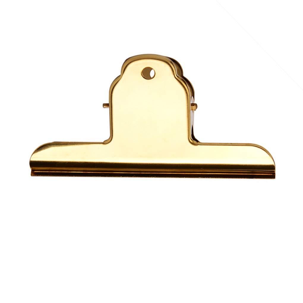 Provide The Best Clip Clip elettrolitico acciaio inossidabile Bulldog Duckbill Ufficio Pinze biglietteria bagagli metallo sigillato Port Cartella