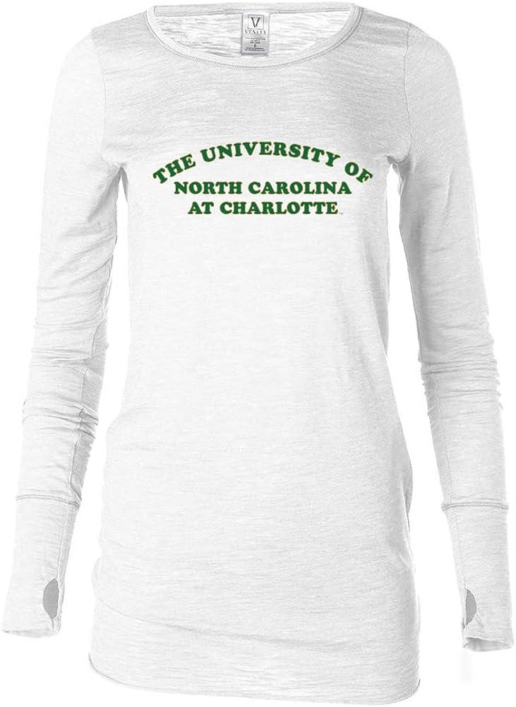 Venley Official NCAA UNC Charlotte 49ers RYLNCC01 Womens Long Sleeve Thumbhole Tee