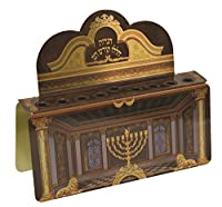 Attractive Standing Tin Chanukah Menorah