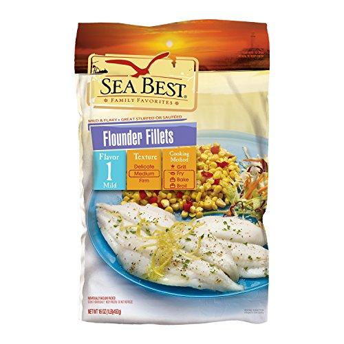 Sea Best Flounder Fillets, 16 Ounce (Pack of 12)