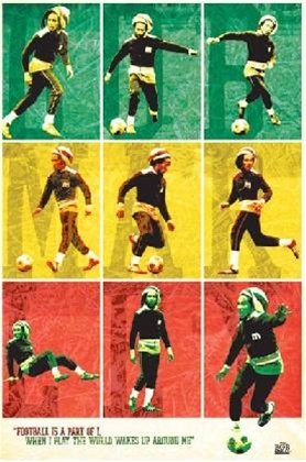 - Bob Marley Soccer Jamaica Reggae Music Poster 24 x 36 inches