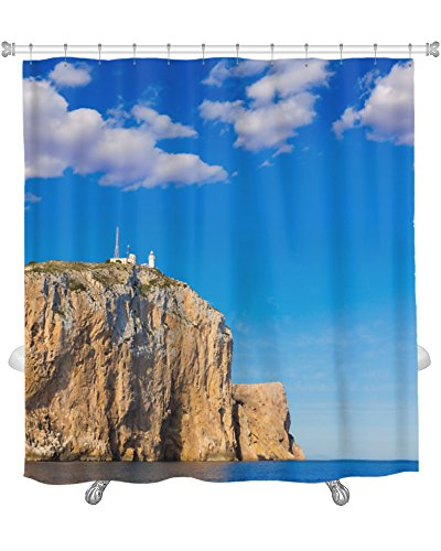 Gear New Cabo De San Antonio Cape in Javea Denia At Spain Shower Curtain, 74'' X 71'' by Gear New