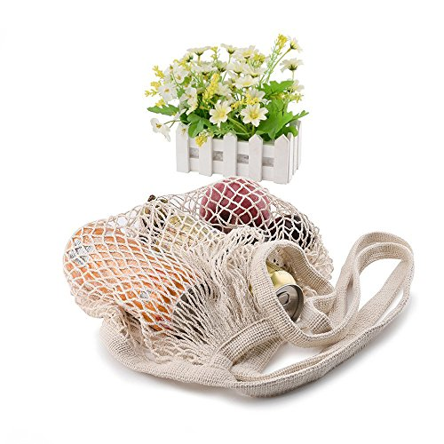 Woven Net (Reusable Cotton Mesh Net Ecology Shopping Bag by Uharbour, Great Christmas Gift Woven Grocery Carrying Tote for Fruits,Vegetables,Toys Etc)