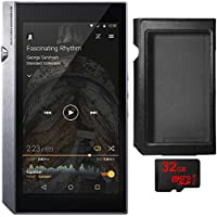 Pioneer XDP-300R Portable Digital Audio Player w/ WiFi & Bluetooth, Silver with Bundle Includes Black Leather Case XDP-APU300 for XDP-300R Audio Player, 32GB MicroSD High-Speed Memory Card