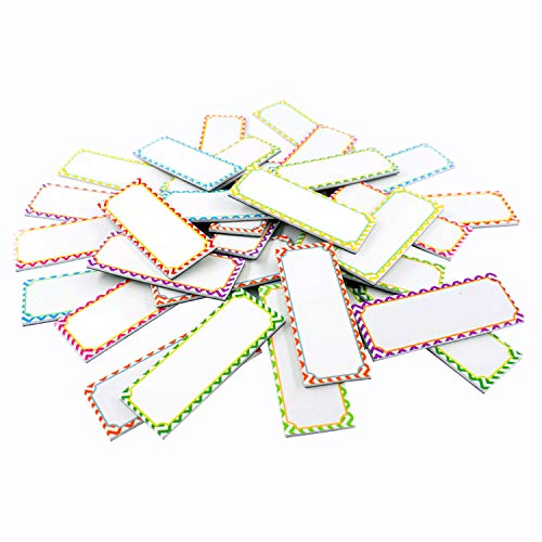 "Magnetic Dry Erase Labels Name Plates White Board 32 Labels 8 Colors,3.2"" x1.2"" from SpriteGru"