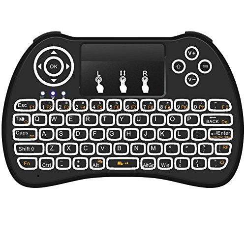 Mitid Wireless Keyboard Touchpad Blacklit