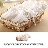 Baby Muslin Washcloths- Natural Muslin Cotton Baby