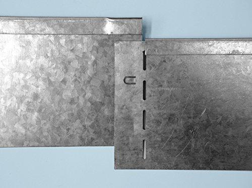 Rasenkante Metall 118 x 20 cm 10 Stk