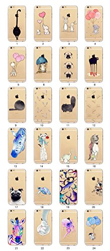 MUTOUREN Apple funda de movil iPhone 6 Plus/6S Plus TPU silicona Case Caso Cover shell Soft cáscara protectora iPhone 6 Plus/6S Plus la contraportada Teléfono resistencia a la caída shell moda Ultra D animal16