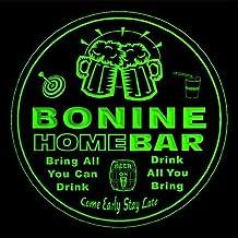 4x ccq04561-g BONINE Family Name Home Bar Pub Beer Club Gift 3D Engraved Coasters