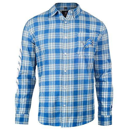 Detroit Lions Wordmark Basic Flannel Shirt Extra Large