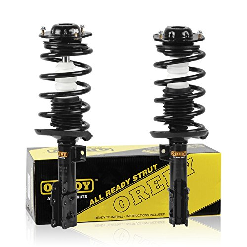 Front Pair 2 Pieces Complete  Shock Coil Spring Assembly Kit for  Chevrolet Malibu  Saturn -