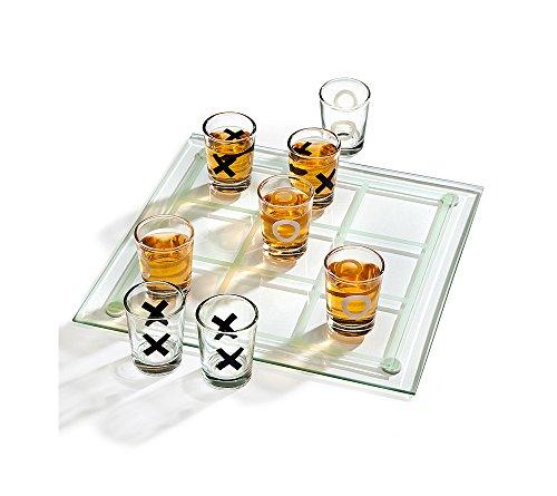 Godinger Studio Tic Tac Toe Drinking Game Set ()