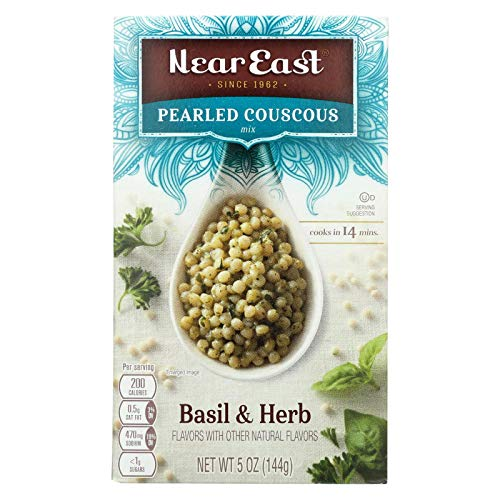 Near East Basil and Herb Pearled Couscous Mix, 5 Ounce - 12 per case.